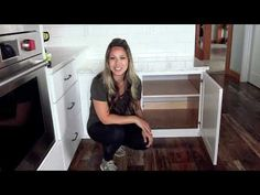 Easy! Convert Cabinet Shelves to Roll Outs for $10 - YouTube Diy Home Crafts, Diy Home Decor, Kitchen Cabinet Crown Molding, Roll Out Shelves, Printer Shelf, Diy Closet Doors, Handyman Projects, Home Decor Kitchen, Kitchen Ideas