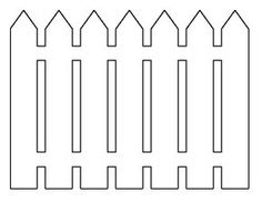 Picket fence pattern. Use the printable outline for crafts, creating stencils, scrapbooking, and more. Free PDF template to download and print at http://patternuniverse.com/download/picket-fence-pattern/