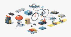 Collective Facultative Works created a graphic project for the application Locolo, which offers people to rent a wide range of objects such as bicycles, overhead projectors, cameras, sound systems and many others. The little drawings that illustrate ...