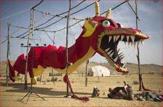 During #Midburn, the #Israeli version of Nevada's Burning Man festival, in the southern #Negev desert