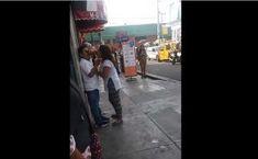 Video: Mujer ebria golpea a su marido en la vía pública | El Puntero