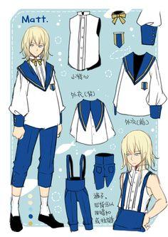 Cute Boy's Sailor Uniform