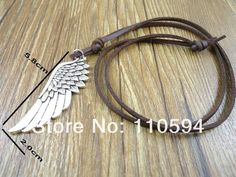 Angel Wing Leather Necklace (Free Shipping)