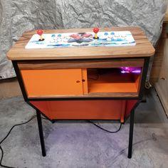 Arcade Pedestal Arcade Machine Retro Modern Furniture | Etsy Diy Arcade Cabinet, Arcade Machine, Pedestal, Modern Furniture, Retro, Home Decor, Decoration Home, Room Decor, Retro Illustration