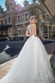 alessandra rinaudo 2017 bridal cap sleeves lace strap sweetheart neckline heavily embellished bodice princess ball gown wedding dress lace back royal long train (bonny) zbv