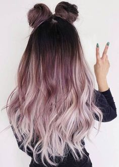 15 Amazing Dark Ombre Hair Color Ideas to Make You Look Trendy - Hair Styles Woman Dark Ombre Hair, Ombre Hair Color, Purple Hair, White Ombre, Long Pink Hair, Purple Ombre, Blonde Ombre, Dark Pastel Hair, Dark To Light Ombre