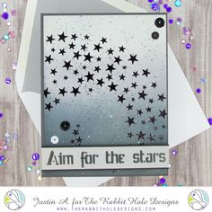 This project uses the Aim for the Stars stencil by The Rabbit Hole Designs! Check out my blog for more details on how I made this card!