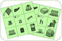 Knijpkaart - Auditief - Letters - Kern 4