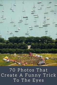 Photos are so powerful. They can capture memories (good and bad). And they can capture funny photos. One thing photos can capture are eye tricks, too. Do you want to see how? Here are 70 photos that will show you how it's done. #funnyphotos #funnyimages #FunnyTrick #trickypics