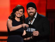 Martina McBride and Zac Brown onstage on the 56th Annual GRAMMY Awards on Jan. 26 in Los Angeles