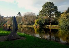 The River Lee looking beautiful on a sunny wintery day at Fitzgeralds Park, Cork City, Ireland