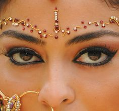 reds and golds - Indian ceremonial makeup