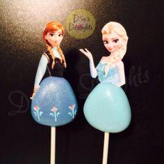 Princess Anna & Princess Elsa Cake Pops #frozencakepops #princessanna #princesselsa  #princessannacakepops #princesselsacakepops #divasdelights