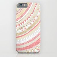 iPhone 6 Cases featuring Coral + Gold Tribal by Tangerine-Tane