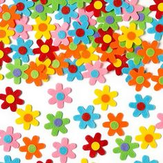 Buy Self-Adhesive Felt Flowers at Baker Ross. Add some flower power to your arts & crafts! Pretty felt flowers with self-adhesive backing to stick to cards and collage. Easter Stickers, Craft Stickers, Mothers Day Crafts, Easter Crafts For Kids, Children Crafts, Pop Out Cards, Arts And Crafts Supplies, Business For Kids, Craft Kits