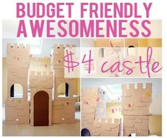 Blog post about an amazing Princess birthday party, including how to make this awesome (cheap!) castle.