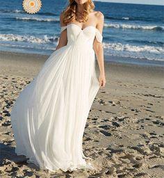 Sexy Prom Dress,Off Shoulder Prom Dresses,White Wedding Dress,Long Prom Dresses…