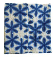 Sri | A Sekka Shibori Padded Cotton Zabuton: Hand Stitched