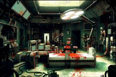 Free the laboratory wallpaper background Cyberpunk, Episode Backgrounds, Wallpaper Backgrounds, Anime Hospital, The Modern Prometheus, Gundam Wallpapers, Dark Images, Dead Space, Environment Concept Art