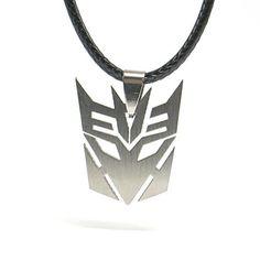 Transformers Halskette Autobots Decepticon Edelstahl Pendant mit Kette (Decepticon) - http://schmuckhaus.online/papapanda/transformers-halskette-autobots-decepticon-mit-3