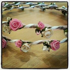 The Classic Bridesmaid hair garland by BloomingLoopy.com - in Baby Pink and Cream - £25 made to measure (wide choice of colours available)