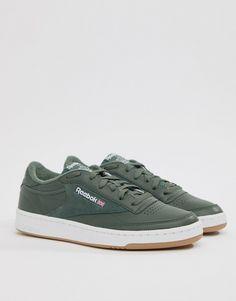 0275d1a19e7c9 Reebok Club C 85 Essential Sneakers In Green CM8793