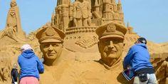 Photo : Photo prise à Blankenberg lors du festival de sculptures sur sable annuel. Belga - juillet 2013