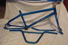 1985 Excaliber Pro                         Extremely rare frame and fork. 1985 Excaliber Pro frame and fork.  From the Excaliber Company out of Corpus Christi, Texas.  They also made them in a orange faded to blue and faded back to orange.  They were a high quality frame.  They manufactured from 85 to 86.  They were manufactured by the same guy who built the Titans.  There are not many of these around for sure.  Lance Osborne commented that there were less than 200 made overall in various…