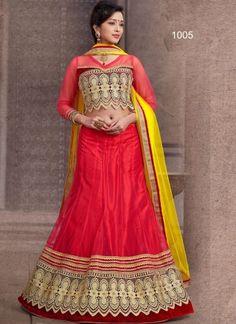 Fancy Red Plan Net With Embroidery Heavy Work Lehenga Choli  http://www.angelnx.com/Lehenga-Choli/Wedding-Lehenga-Choli