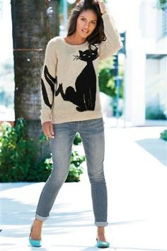 Cat Sweater- you can wear this at your B-party. meow #blackjack