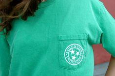 Kelly Green Tristar Pocket Tee. $30.00