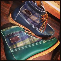Canyon Boot in Steer Leather/Plaid - Photo by @Nic Screws