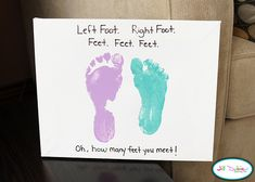 Dr. Seuss Crafts for Toddlers | footprints for Dr. Seuss' The Foot Book