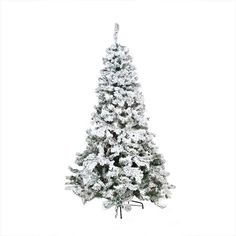 65 heavily flocked artificial christmas tree unlit flocked christmas trees white artificial christmas - White Fake Christmas Tree