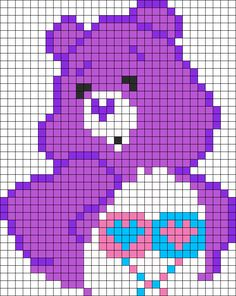 Care Bear Perler Bead Pattern | Bead Sprites | Characters Fuse Bead Patterns