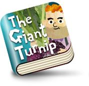 The Giant Turnip :: Kidztory :: iPad, iPhone :: This whole series provides bright, attractive illustrated versions of classic stories.  Read-to-me and read myself options.  Music, sounds & animations are minimal, attractive and do not distract from the main storyline.  No navigation to skip around within the book (just forward or back one page at a time). :: 2+