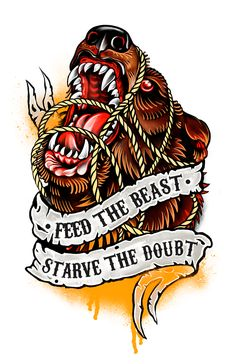 Traditional tattoo on Behance - Tattoo Inspiration - Tattoo American Traditional, Traditional Tattoo Animals, Traditional Tattoo Flash, Traditional Tattoo Design, Bear Tattoos, Animal Tattoos, Body Art Tattoos, Chest Piece Tattoos, Arm Sleeve Tattoos