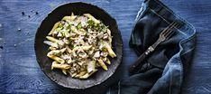 Sienipasta | Pääruoat | Reseptit – K-Ruoka Mushroom Pasta, Falafel, Risotto, Stuffed Mushrooms, Ethnic Recipes, Food, Stuff Mushrooms, Essen, Falafels
