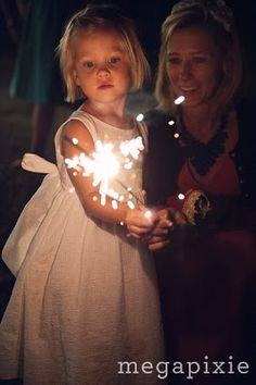 Sparklers - perfect for 4th of July!   http://ncweddingministerblog.blogspot.com/2013/07/kate-and-angel-wed-at-het-landhuis-in.html
