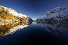 Lago Fedaia with marmolada