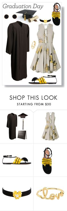 """""""Congrats, Grad: Graduation Day Style"""" by freida-adams ❤ liked on Polyvore featuring L'Autre Chose, Kenneth Jay Lane, Sydney Evan, Humble Chic, Graduation, polyvorecommunity, topset, polyvorecontest and polyvorefashion"""
