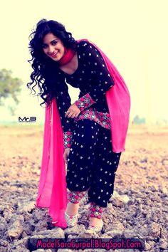 Sara Gurpal Latest Punjabi Suit Images
