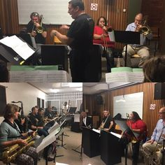 UCT Alumni Big Band in rehearsal for show as part of #capetownbigbandfest @baxtertheatre #sat #3june2017