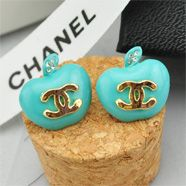 $7.99 http://artemee.com/ White crystal studs,Green apple base. free shipping