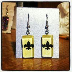 Saints earrings by Kate