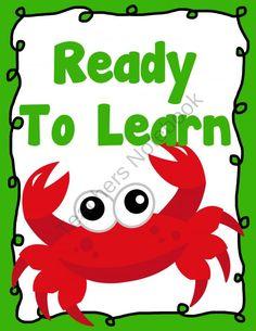 Under the Sea Behavior Clip Chart - Behavior Management product from Amy-Alvis on TeachersNotebook.com