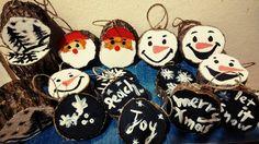 Ξύλινα χειροποίητα χριστουγεννιάτικα στολίδια