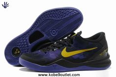 super popular 9e7bf 56cbd Black Purple Yellow Style Nike Zoom Kobe VIII 8 555035-002 For Sale Yellow  Style