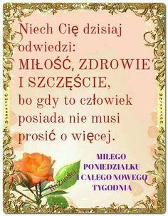 Powitania na dzień dobry Good Morning Messages, Place Cards, Place Card Holders, Good Morning Wishes