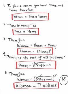La donna spiegata con la matematica